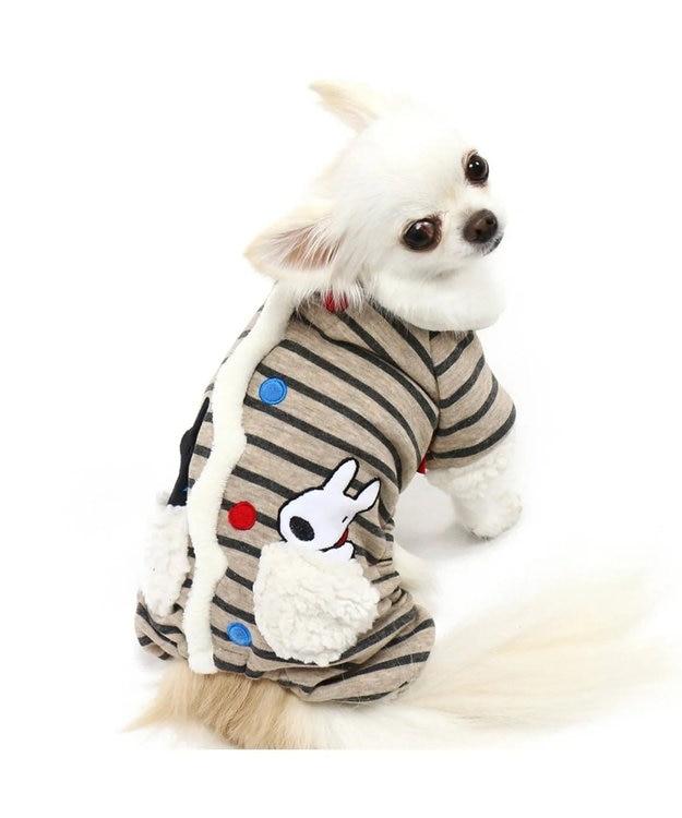 PET PARADISE 【ネット店限定】 リサとガスパール ボーダー ロンパース〔小型犬〕