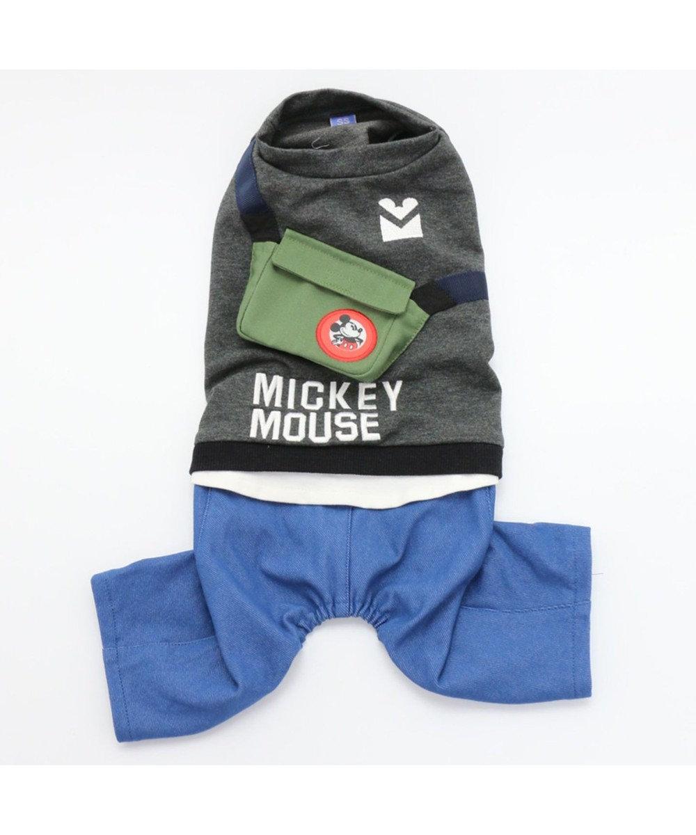 PET PARADISE ディズニー ミッキーマウス カバン付 パンツつなぎ〔小型犬〕 黒
