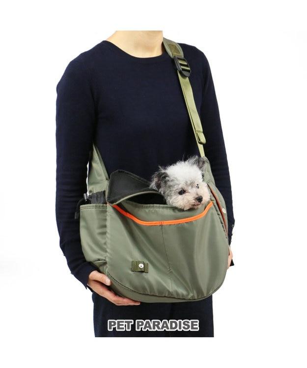 PET PARADISE ペットパラダイス ペットキャリーバッグS カーキショルダー〔超小型犬〕