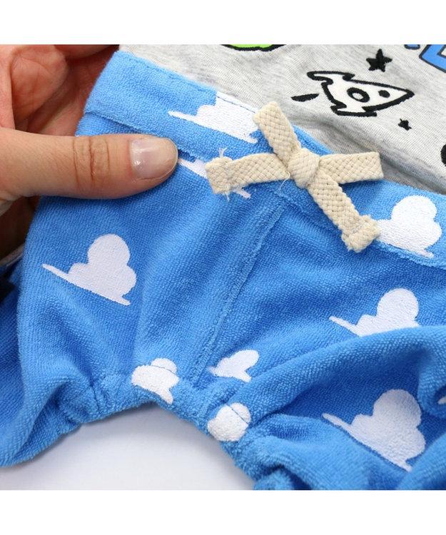 PET PARADISE ディズニー トイストーリー 雲柄 パンツつなぎ〔小型犬〕