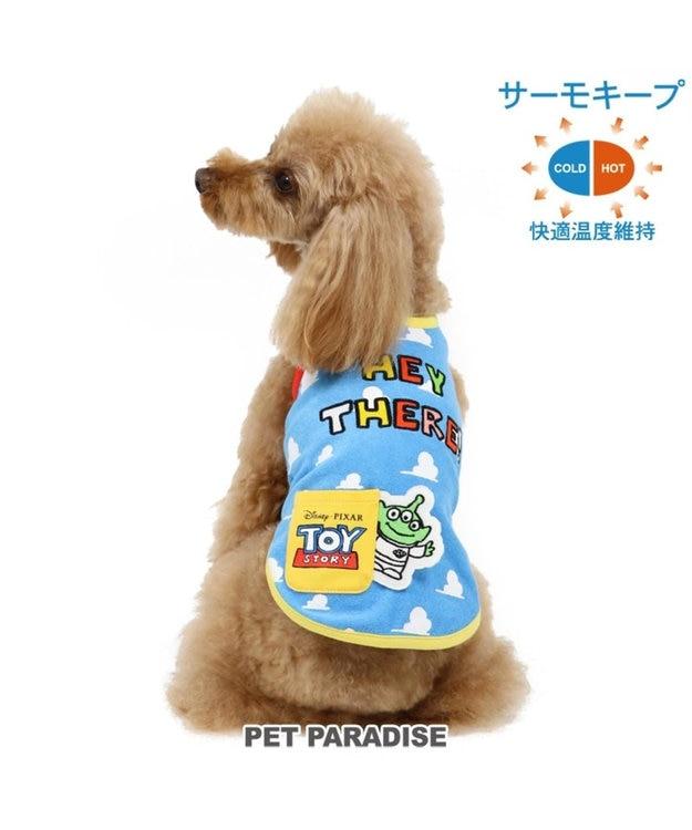 PET PARADISE ディズニー トイストーリー サーモキープ 空柄 パイル タンク〔小型犬〕 水色