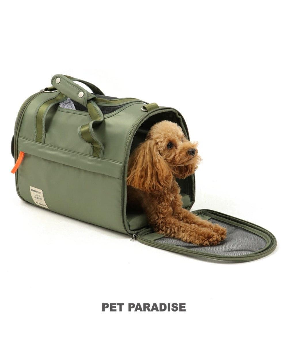 PET PARADISE ペットパラダイス ペットキャリーバッグM カーキ 折畳〔小型犬〕 緑