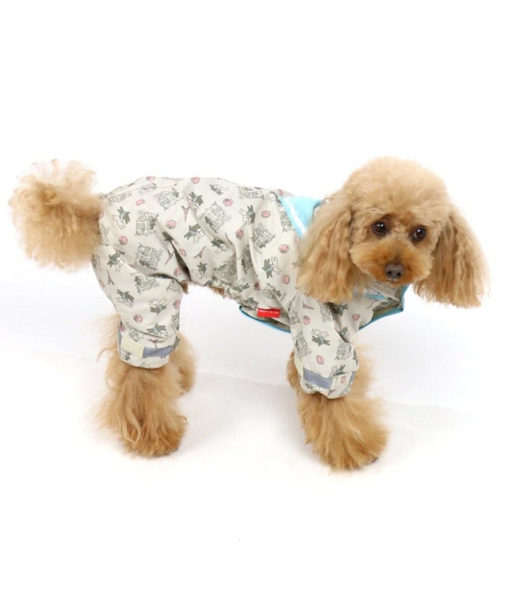 PET PARADISE リサとガスパール セーラー レインコート フルカバータイプ〔小型犬〕 グレー