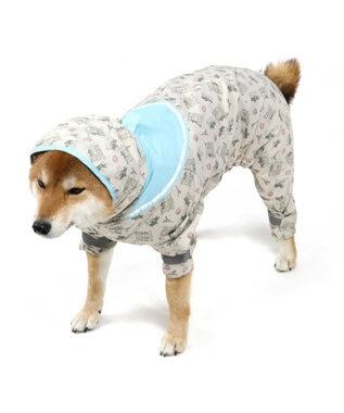 PET PARADISE リサとガスパール セーラー レインコート フルカバータイプ〔中・大型犬〕 グレー