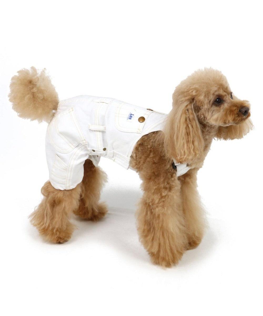 PET PARADISE Lee 白デニム オーバオル〔小型犬〕 白~オフホワイト