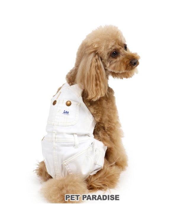 PET PARADISE Lee 白デニム オーバオル〔小型犬〕