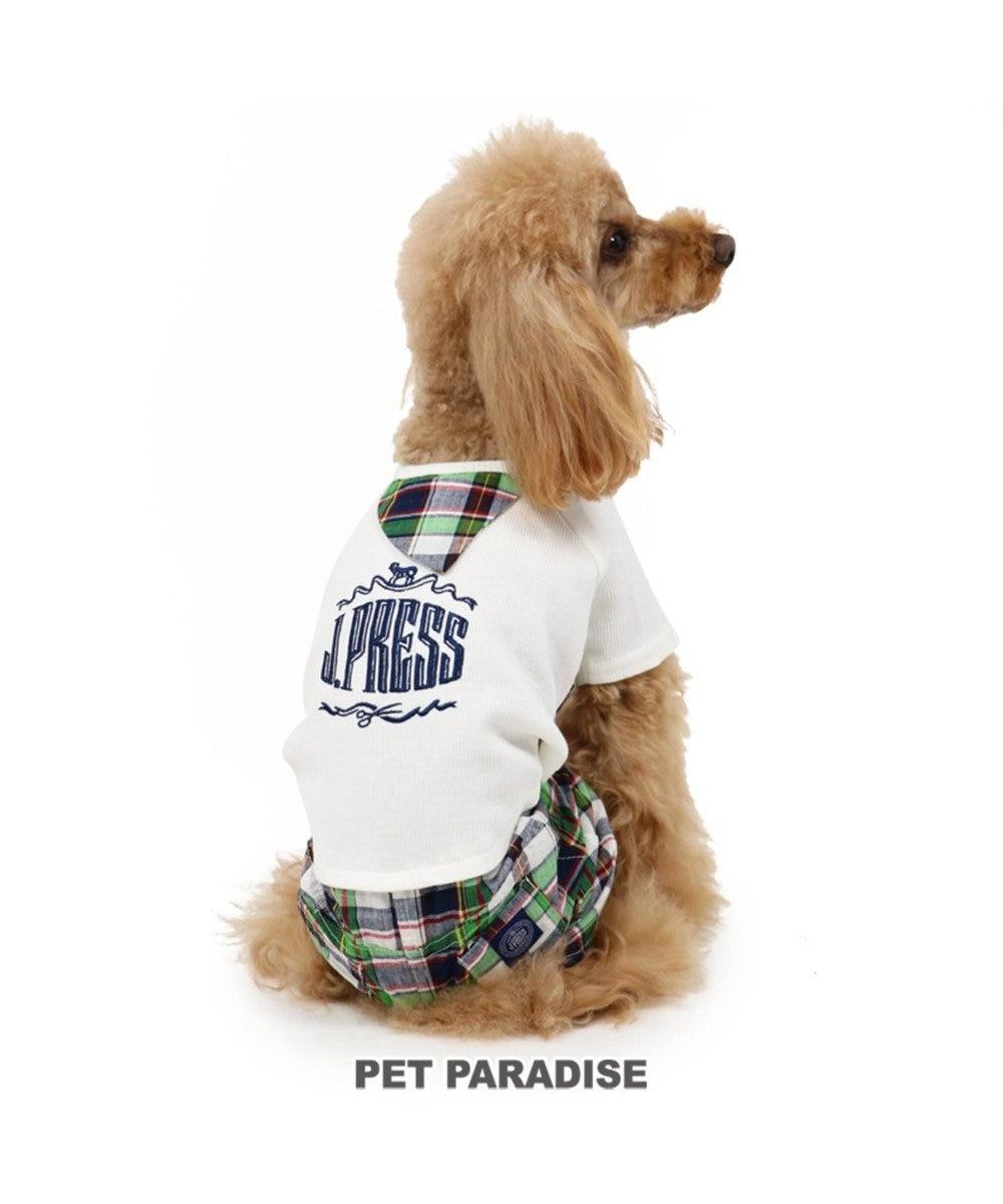 PET PARADISE J.PRESS マドラス チェック パンツつなぎ 〔小型犬〕 緑
