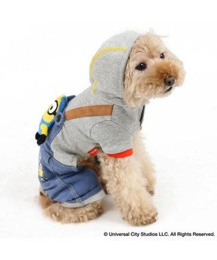 PET PARADISE ミニオン ボブ付 パンツつなぎ〔小型犬〕 青
