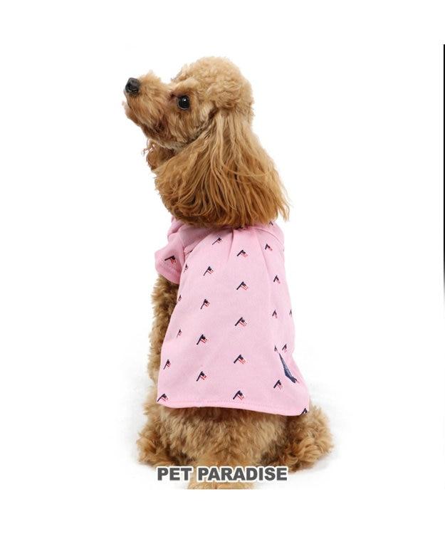 PET PARADISE J.PRESS 星条旗刺繍 シャツ ピンク〔小型犬〕