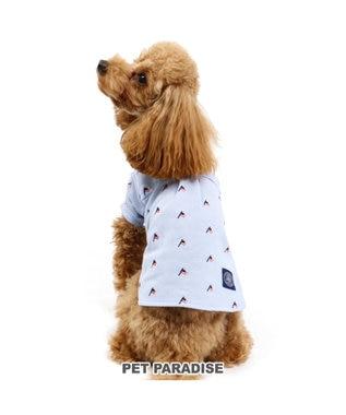 PET PARADISE J.PRESS 星条旗刺繍 シャツ 青〔小型犬〕 水色