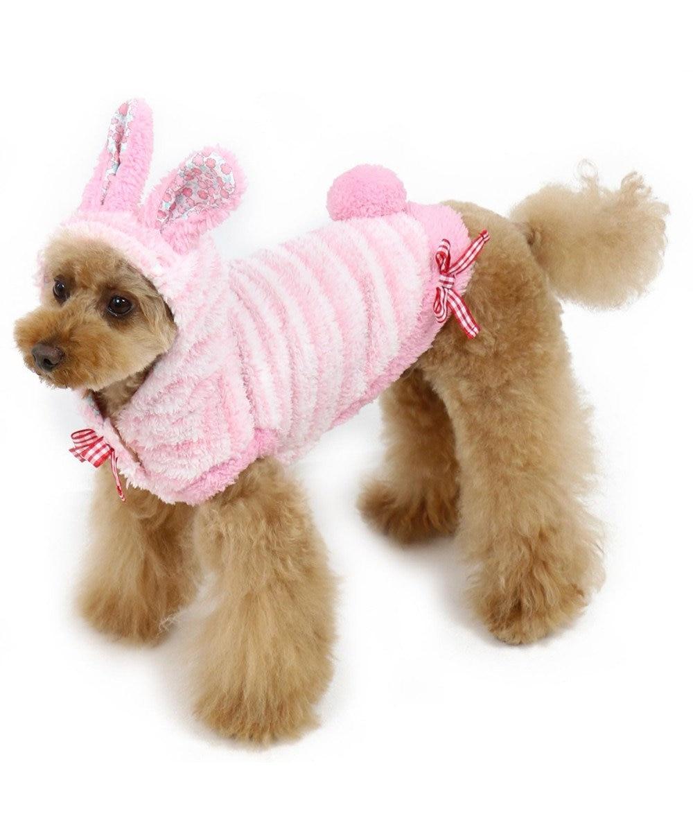 PET PARADISE ペットパラダイス うさぎ パーカー〔小型犬〕 ピンク(淡)