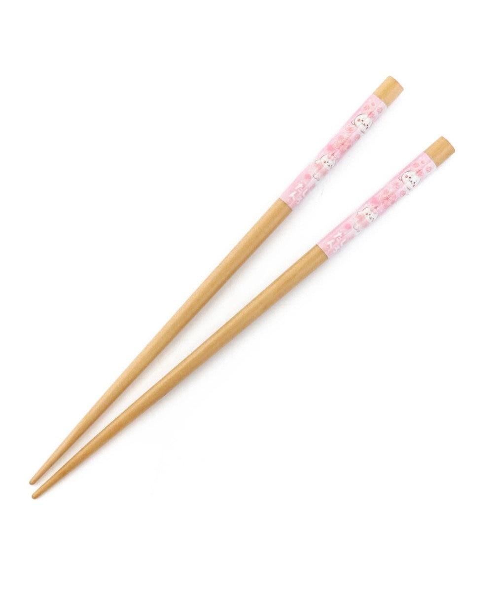 Mother garden しろたん 木製 箸 桜柄 木箸 21cm 0