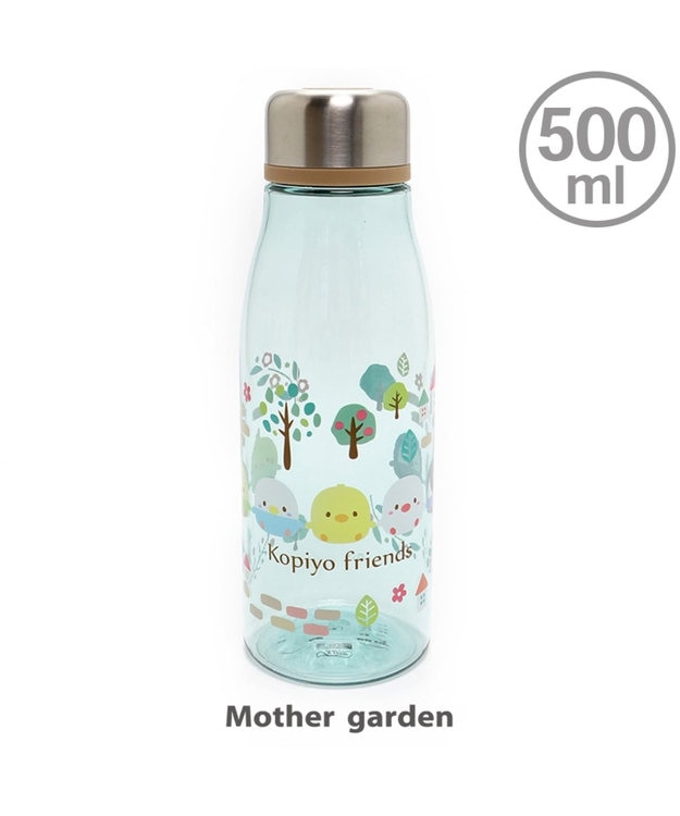 Mother garden マザーガーデン こぴよフレンズ クリアボトル 《リーフ柄》 500ml マイボト