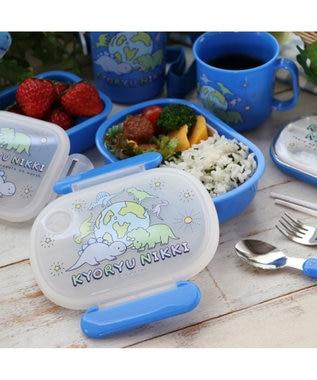 Mother garden きょうりゅう日記 1段お弁当箱 《地球柄》 日本製  ランチボックス 食洗機 青