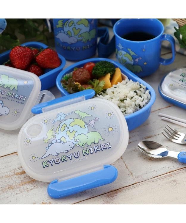 Mother garden きょうりゅう日記 1段お弁当箱 《地球柄》 日本製  ランチボックス 食洗機