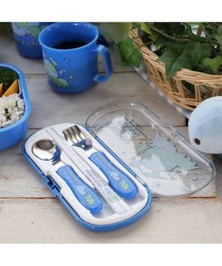 Mother garden きょうりゅう日記 トリオセット お箸&スプーン&フォークセット 《地球柄》 青