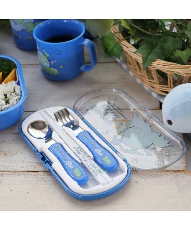 Mother garden きょうりゅう日記 トリオセット お箸&スプーン&フォークセット 《地球柄》