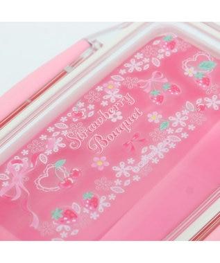 Mother garden マザーガーデン 野いちご 2段お弁当箱 ドーム型 《リボン柄》 560ml 日本製 ピンク(淡)