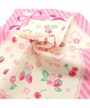 Mother garden マザーガーデン 野いちご ランチクロス 《ブーケ柄》42×42センチ お弁当包 ピンク(濃)
