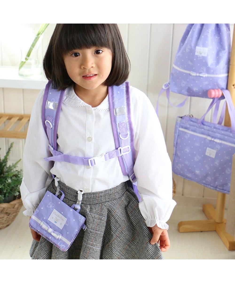 Mother garden くまのロゼット 子供用リュック Lサイズ 《リボン柄》 紫