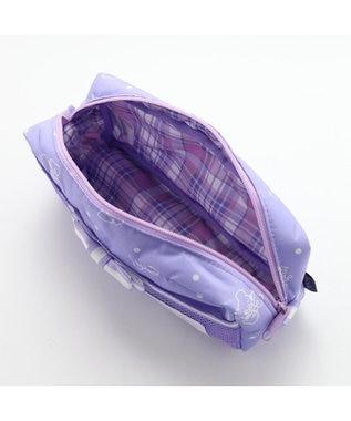 Mother garden くまのロゼット ペンポーチ 《リボン柄》 文房具 筆箱 紫
