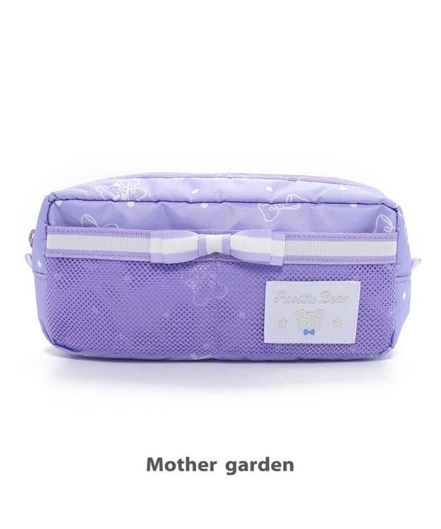 Mother garden くまのロゼット ペンポーチ 《リボン柄》 文房具 筆箱