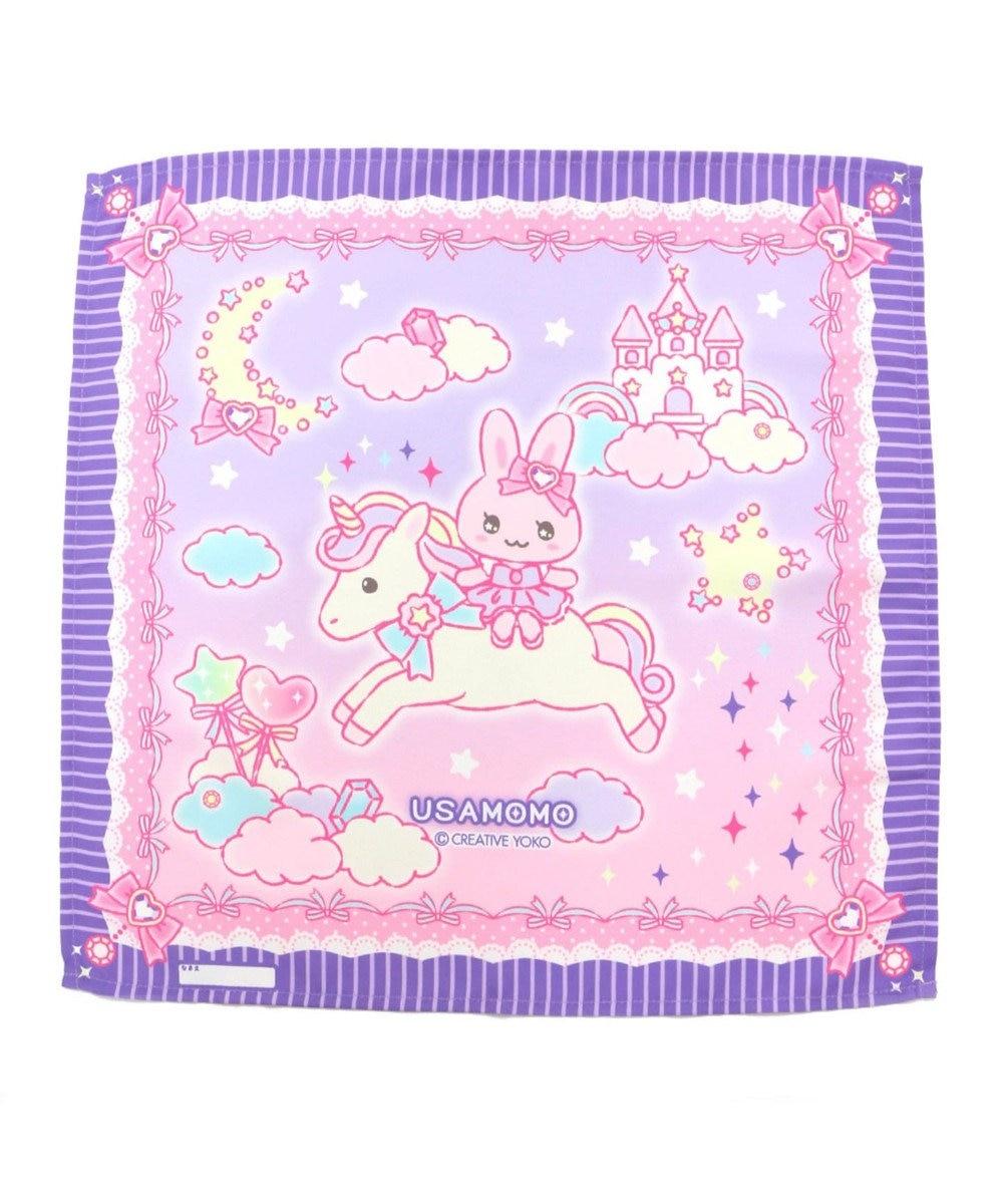 Mother garden うさもも ランチクロス 《ユニコーン柄》42×42センチ お弁当包み ランチク 紫