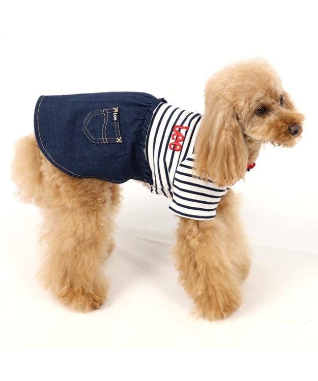 PET PARADISE Lee ボーダー スカートつなぎ〔小型犬〕