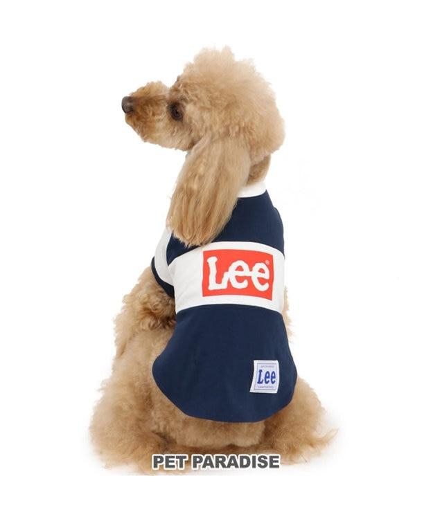 PET PARADISE Lee ボックス ロゴ Tシャツ 紺〔小型犬〕