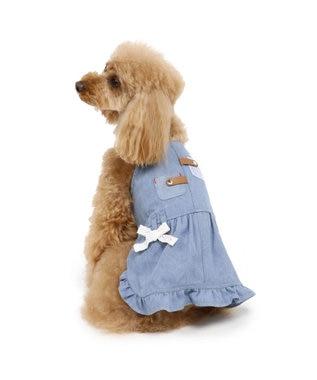 PET PARADISE ペットパラダイス デニム ジャンパースカート〔小型犬〕 水色
