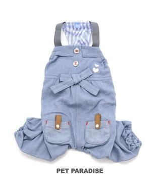 PET PARADISE ペットパラダイス デニム デニム サロペット〔小型犬〕 水色