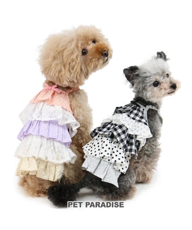 PET PARADISE ペットパラダイス フリル ワンピース チェック〔小型犬〕