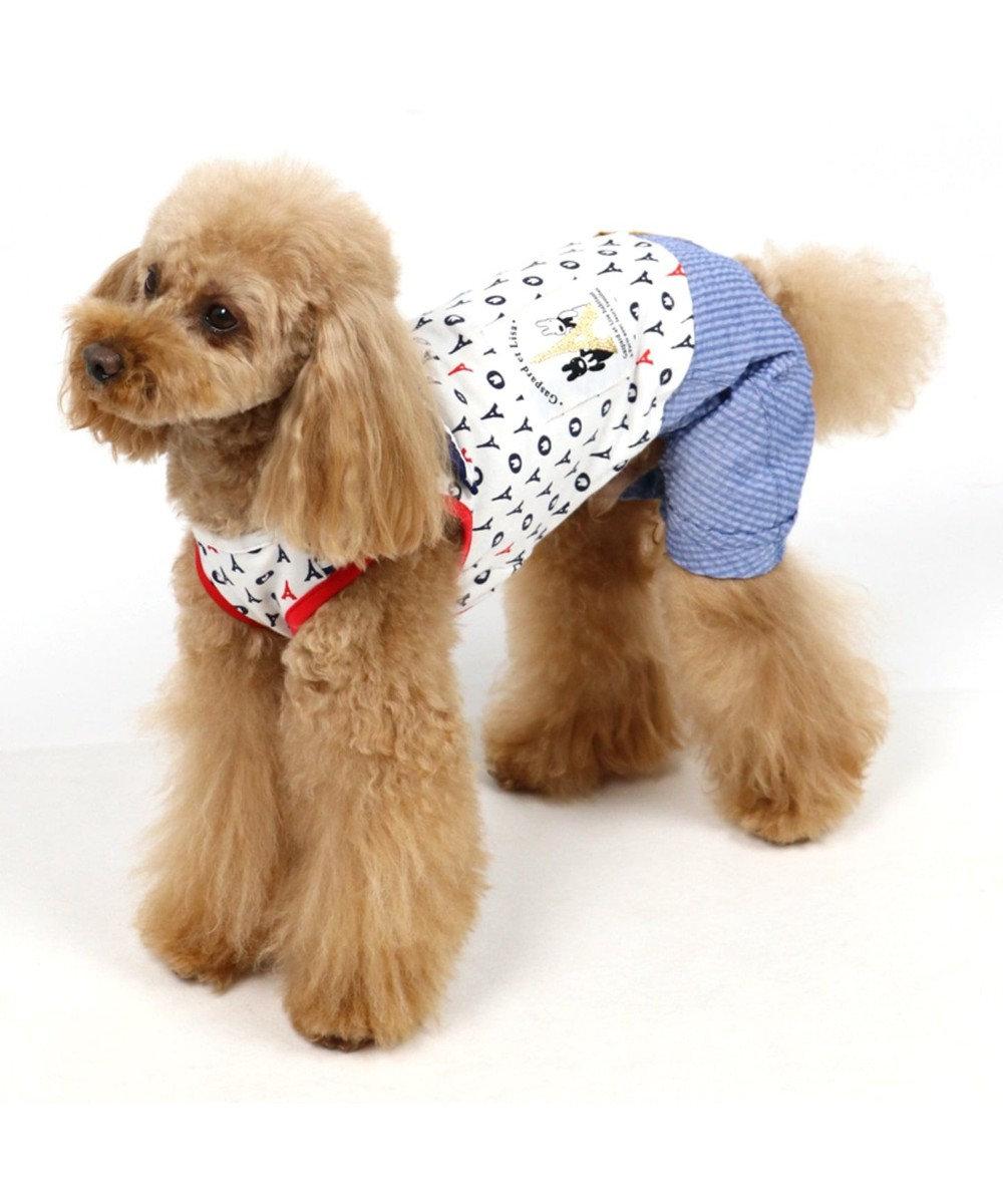 PET PARADISE リサとガスパール マリン パンツつなぎ 〔小型犬〕 紺(ネイビー・インディゴ)