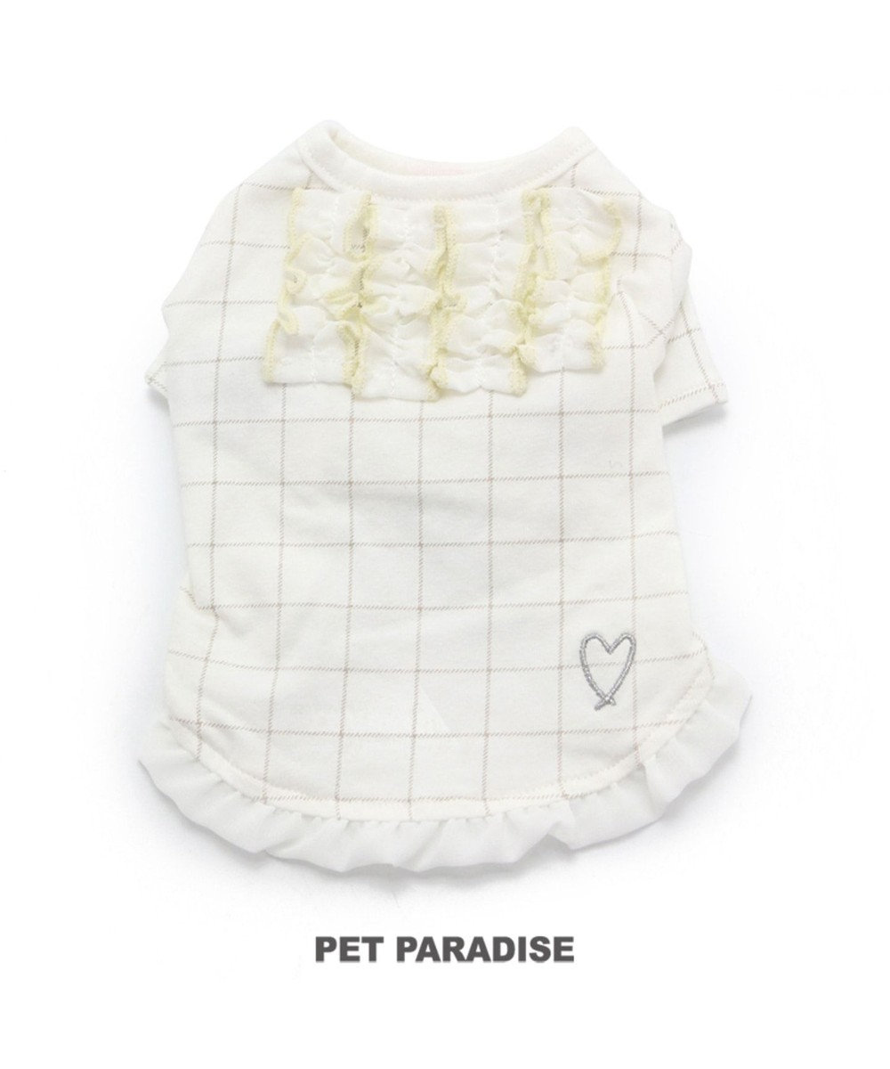 PET PARADISE ペットパラダイス 格子柄 Tシャツ 〔小型犬〕 0