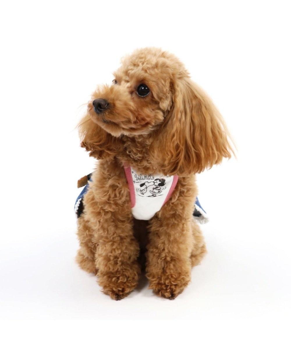 PET PARADISE スヌーピー ペア スカートつなぎ〔小型犬〕 ピンク(淡)