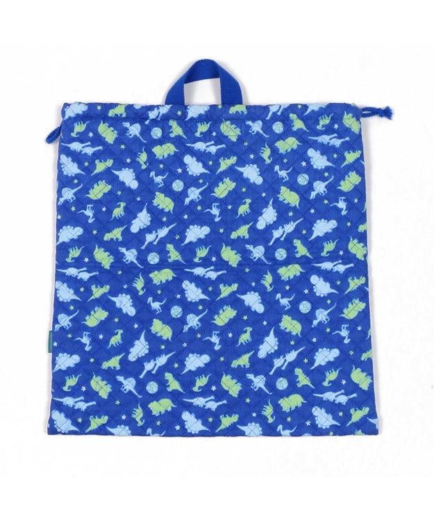 Mother garden きょうりゅう日記 《地球柄》 キルトお着替え巾着 着替え袋