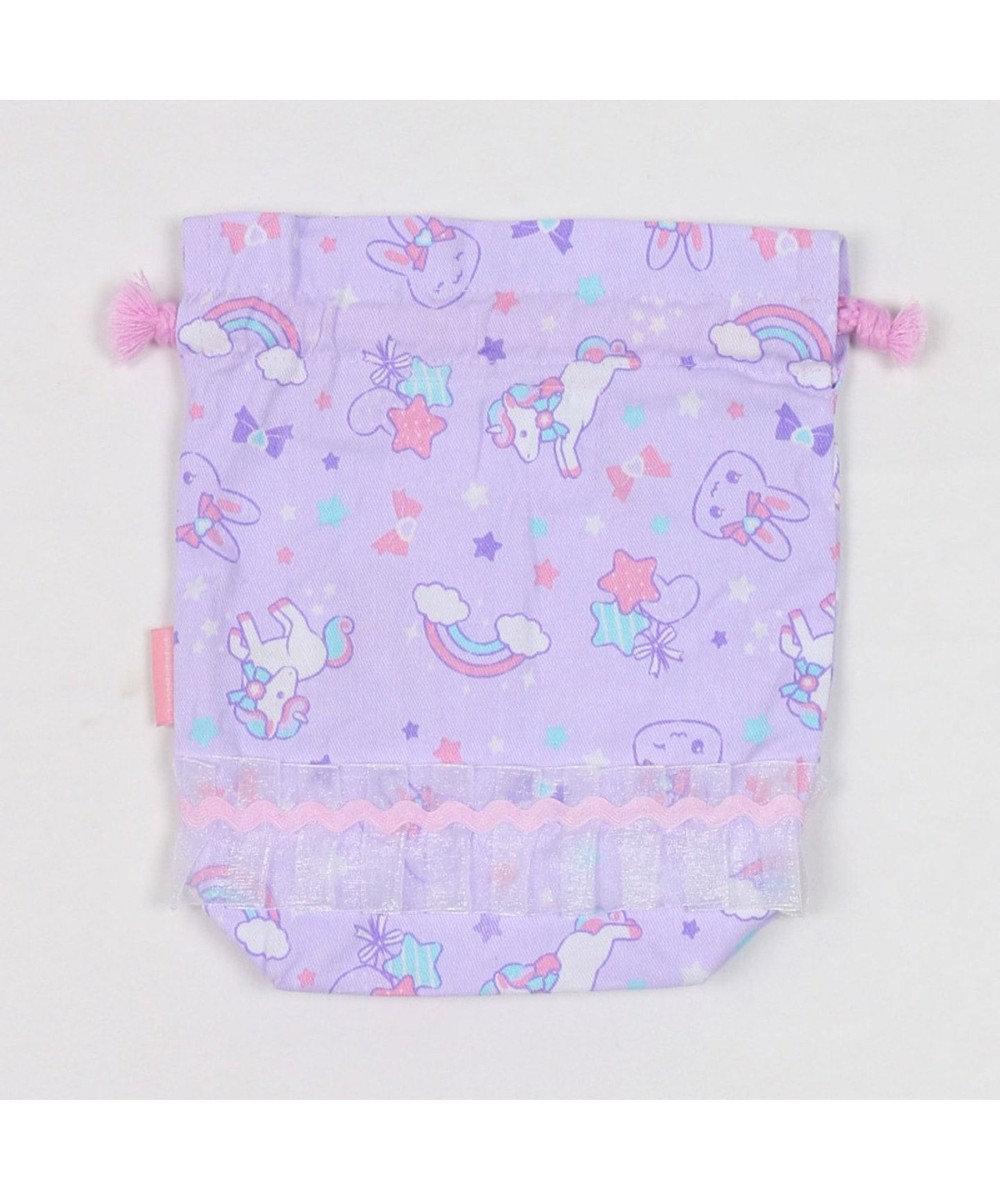 Mother garden うさもも 《ユニコーン柄》 コップ巾着 コップ袋 コップ入 紫