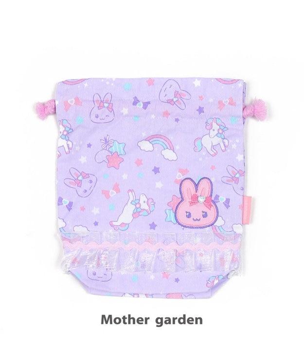 Mother garden うさもも 《ユニコーン柄》 コップ巾着 コップ袋 コップ入