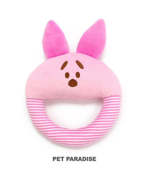 PET PARADISE ディズニー 犬用おもちゃ プーさん  ピグレット ソフト ピンク(淡)