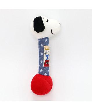 PET PARADISE スヌーピー 犬用おもちゃ  Sサイズ 70Sダンベル 紺(ネイビー・インディゴ)