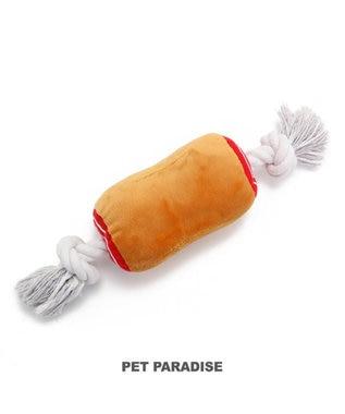 PET PARADISE 犬用品 ペットグッズ 犬 おもちゃ ペットパラダイス 犬 おもちゃ ロープ 骨付き肉 大  おうちであそぼう おうちで遊ぼう お家で遊ぼう おうち時間 お家遊び 犬 おもちゃ 音が鳴る ロープ オモチャ ペットのペットトイ ペット用 玩具 TOY 茶系