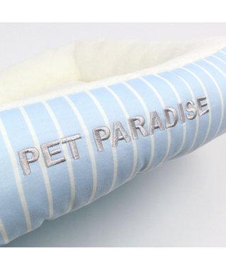 PET PARADISE ペットパラダイス ペットカドラーM ボーダー パピー 水色