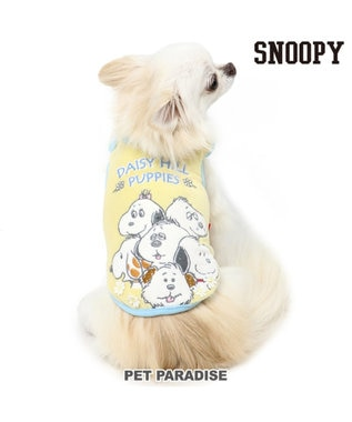 PET PARADISE スヌーピー タンクトップ デイジーヒル柄〔小型犬〕 黄