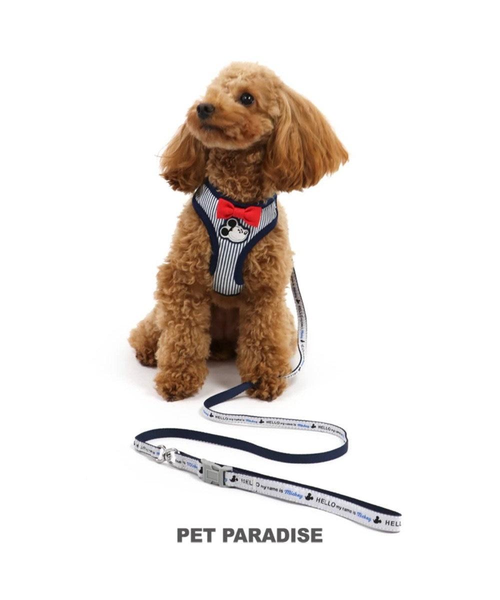 PET PARADISE ディズニー ミッキー ヒッコリー リード付ハーネス ペット4S 水色
