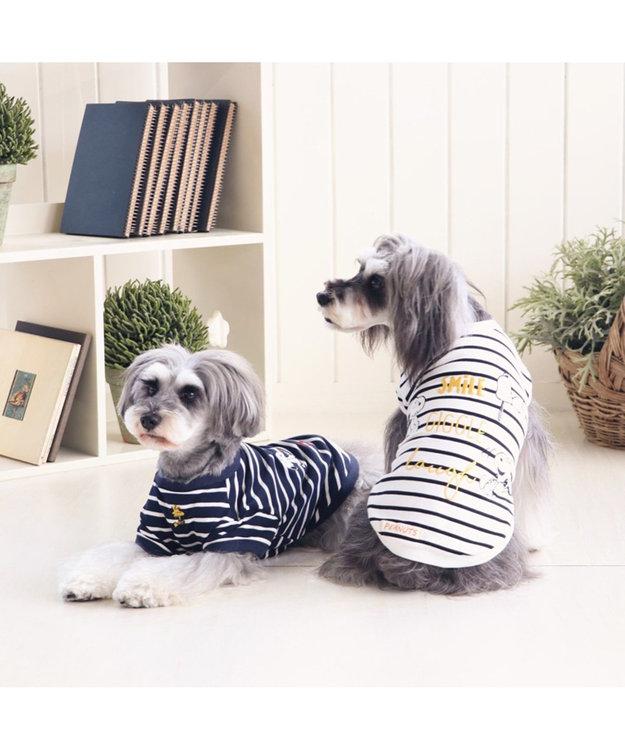 PET PARADISE スヌーピー スマイル トレーナー 紺〔小型犬〕