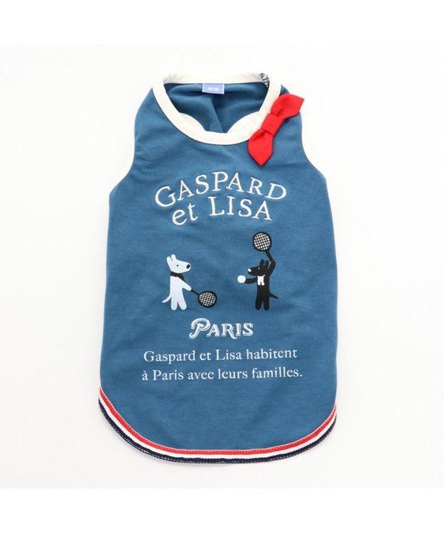 PET PARADISE リサとガスパール  ワンダフルストレッチ タンク テニス柄〔小型犬〕