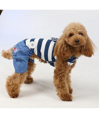 PET PARADISE J.PRESS クールマックス パンツ付き上下タンク〔小型犬〕 白~オフホワイト
