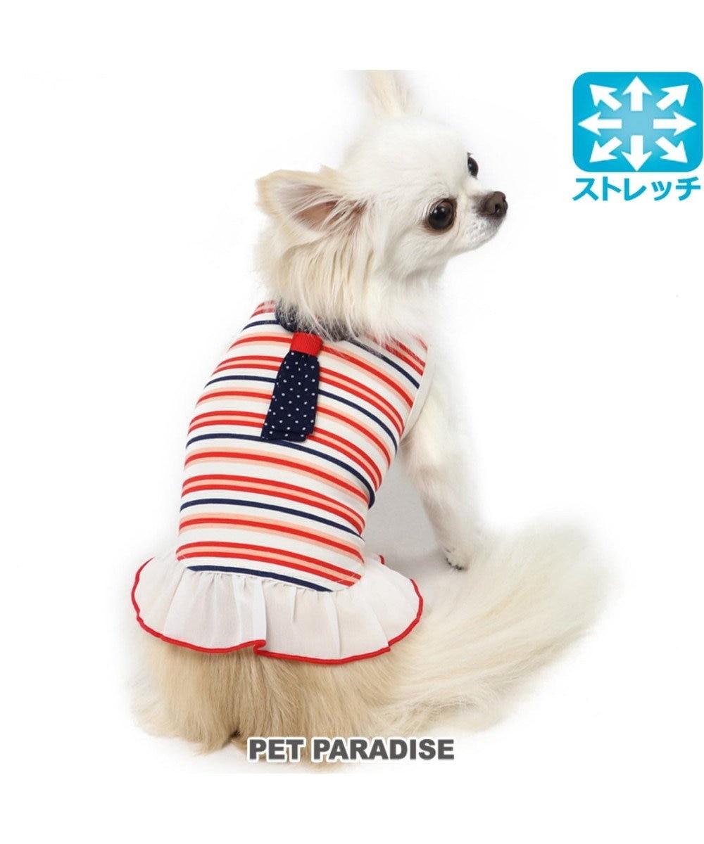 PET PARADISE ペットパラダイス ワンダフルストレッチ フリルタンク〔小型犬〕 赤