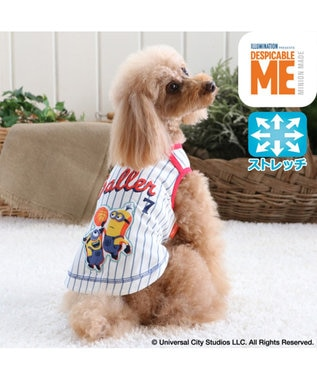 PET PARADISE ミニオン ワンダフルストレッチ タンク バスケ柄〔小型犬〕 白~オフホワイト