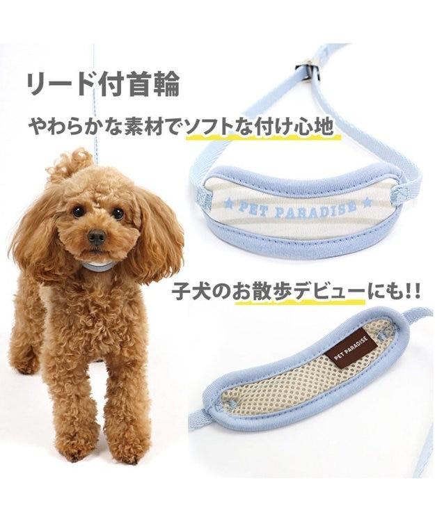 PET PARADISE ペットパラダイス リード付き首輪 水色 パピー〔小型犬〕